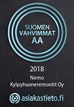 Nemo Kylpyhuoneremontit - Suomen Vahvimmat AA